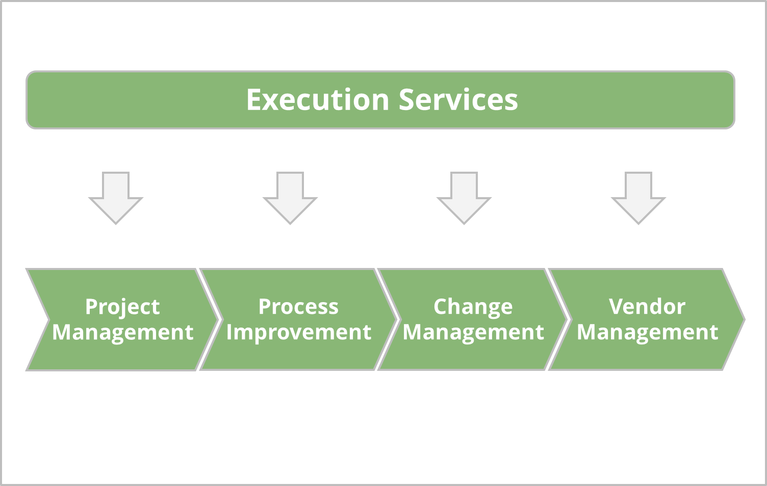 Project Management, Change Management, Vendor Management